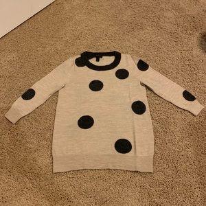 J. Crew dot sweater.